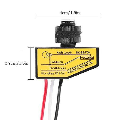 Light Control Switch Onever Dc 12v 24v 36v 48v Dusk To